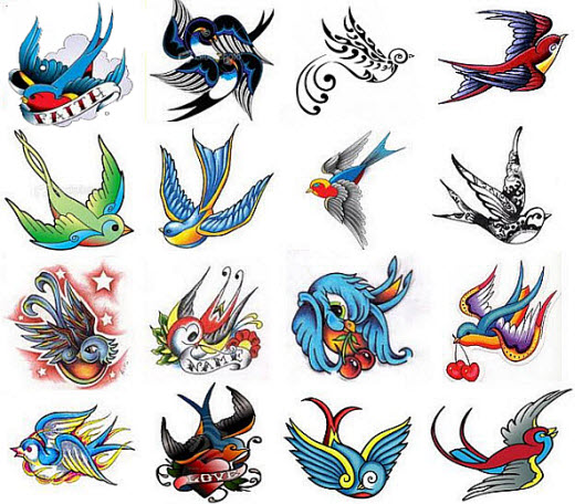 swallow tattoo designs. swallow tattoos art gallery